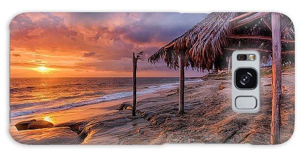 Golden Sunset The Surf Shack Galaxy Case
