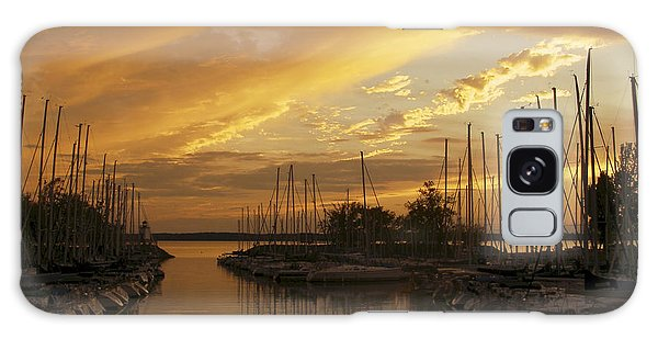 Golden Sunset With Sailboats Galaxy Case by Jane Eleanor Nicholas