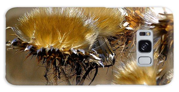 Golden Thistle Galaxy Case by Bill Gallagher