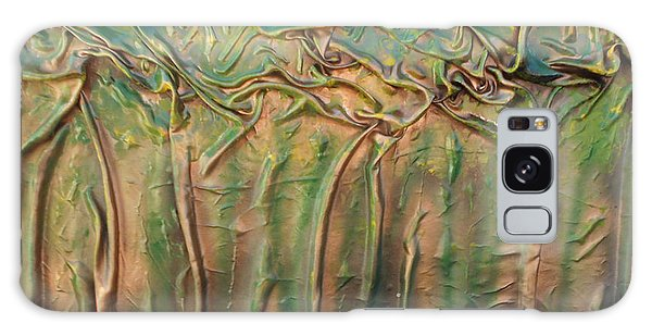 Golden Trees Galaxy Case by Angela Stout