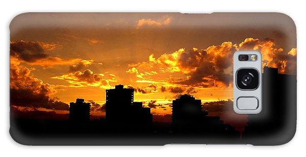 Golden Vancouver Sunset Galaxy Case by Brian Chase