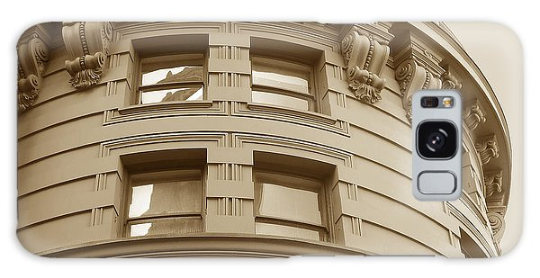 Golden Vintage Building Galaxy Case by Connie Fox