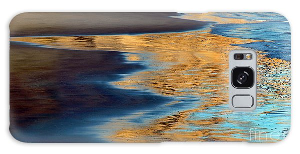 Golden Water Reflections Point Reyes National Seashore Galaxy Case by Wernher Krutein