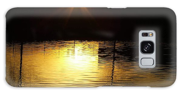 Golden Water Galaxy Case
