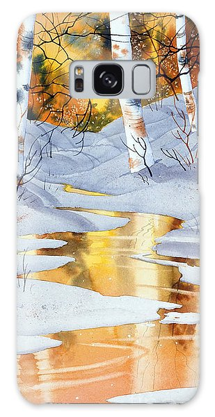 Golden Winter Galaxy Case by Teresa Ascone