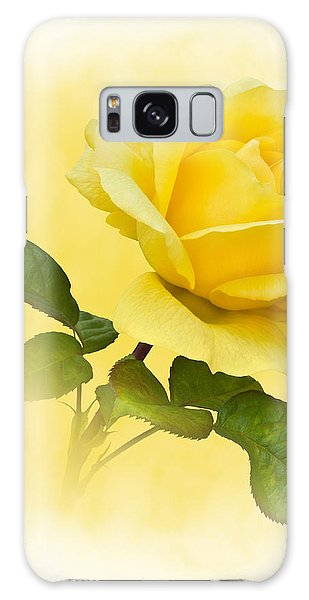 Golden Yellow Rose Galaxy Case by Jane McIlroy