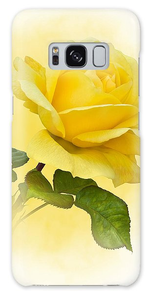 Golden Yellow Rose Galaxy Case
