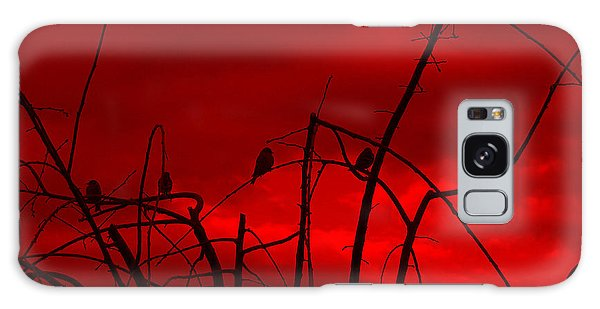 Goldfinch Against Red Galaxy Case by Heidi Manly