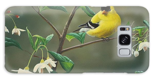 Goldfinch And Snowbells Galaxy Case