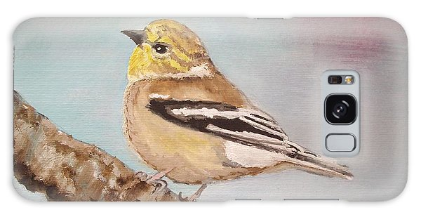 Goldfinch In Winter Plumage Galaxy Case
