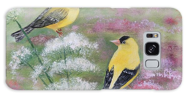 Goldfinches Galaxy Case