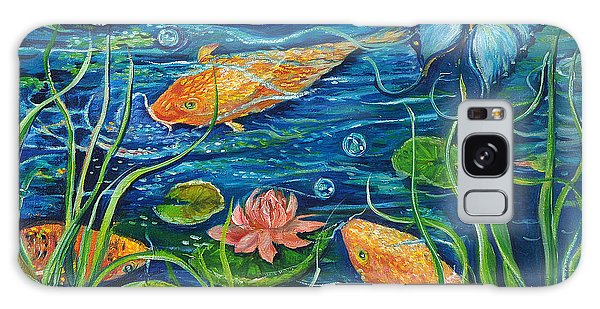 Goldfish And Butterfly Galaxy Case by Yolanda Rodriguez