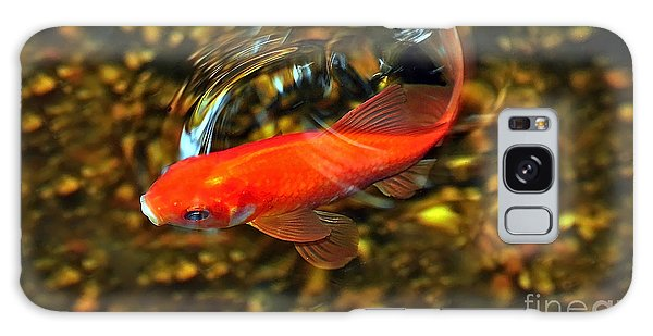 Goldfish Swimming Galaxy Case