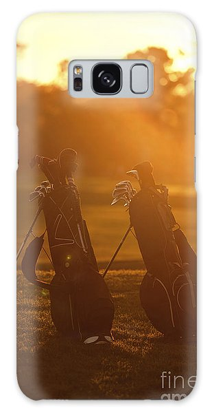 Golf Bags At Sunset Galaxy Case by Diane Diederich