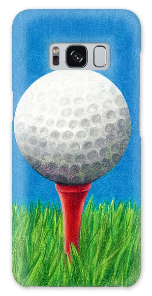 Golf Ball And Tee Galaxy Case