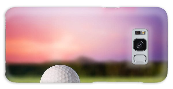 Golf Ball On Tee At Sunset Galaxy Case