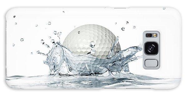 Golf Ball Splashing Into Water Galaxy Case