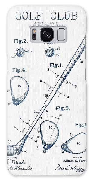 Golf Club Patent Drawing From 1910 - Blue Ink Galaxy Case by Aged Pixel