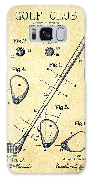Golf Galaxy S8 Case - Golf Club Patent Drawing From 1910 - Vintage by Aged Pixel