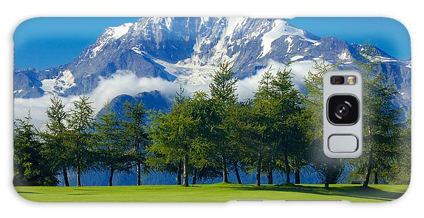 Golf Course In The Mountains - Riederalp Swiss Alps Switzerland Galaxy Case