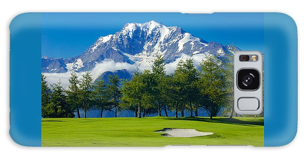 Golf Course In The Mountains - Riederalp Swiss Alps Switzerland Galaxy Case by Matthias Hauser