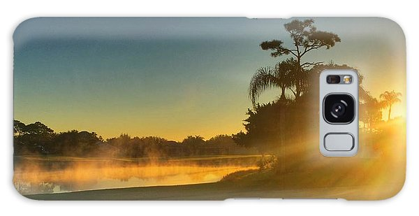 Golf Course Sunrise Galaxy Case