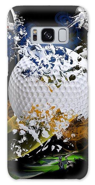 Golf Explosion Galaxy Case by Davina Washington