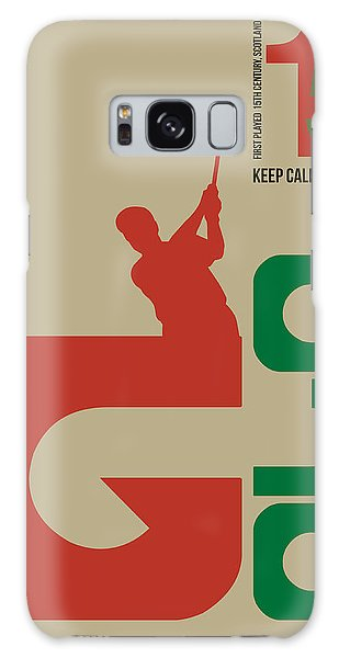 Golf Poster Galaxy Case