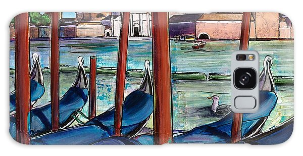 Galaxy Case featuring the painting Gondolas by TM Gand