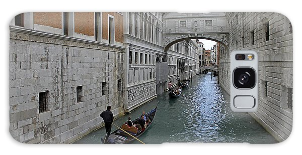 Gondolas Under Bridge Of Sighs Galaxy Case by Tony Murtagh