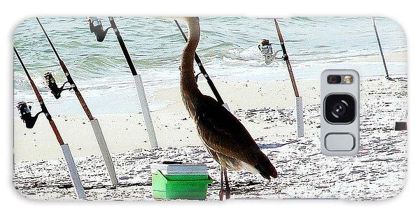 Gone Fishing Galaxy Case by Debra Forand