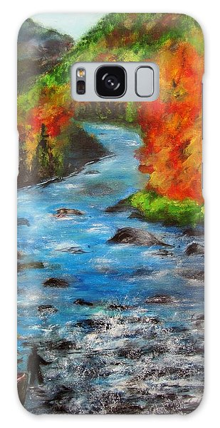Gone Fishing In Ausable River Galaxy Case