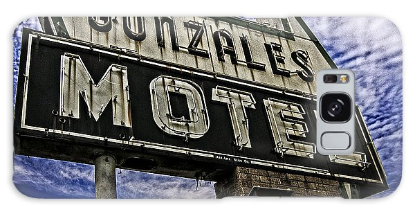 Gonzales Motel In Color Galaxy Case by Andy Crawford