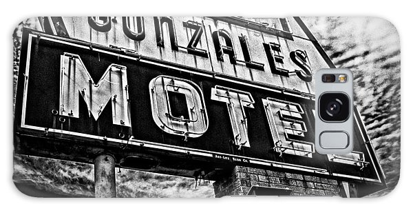Gonzales Motel Sign Galaxy Case by Andy Crawford