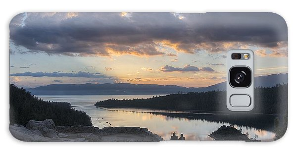 Good Morning Emerald Bay Galaxy Case by Peter Thoeny