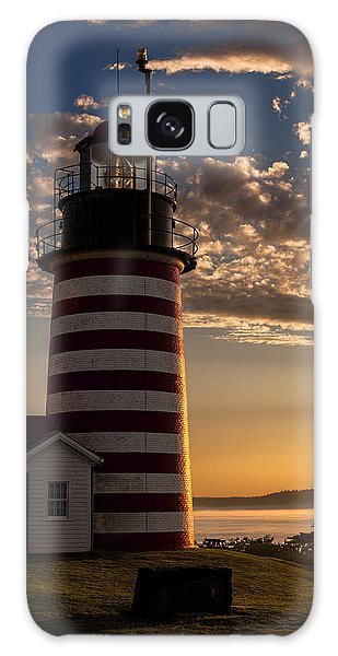 Good Morning West Quoddy Head Lighthouse Galaxy Case by Marty Saccone