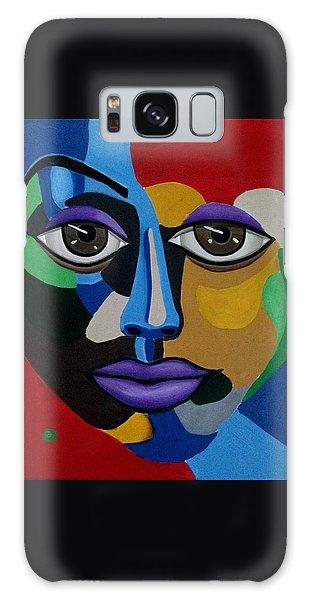 Google Me - Abstract Art Painting - Colorful Abstract Face - Ai P. Nilson Galaxy Case