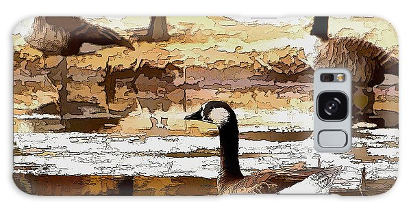 Goose Abstract Galaxy Case