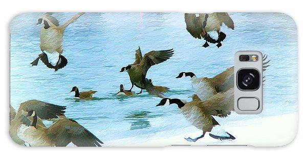 Goose Hop Galaxy Case by Kathy Bassett