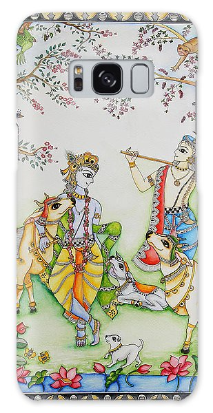 Madhubani Galaxy Case - Gopashtami by Gaura Aggarwal