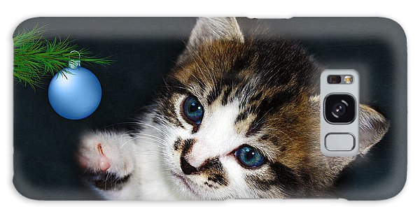 Gorgeous Christmas Kitten Galaxy Case
