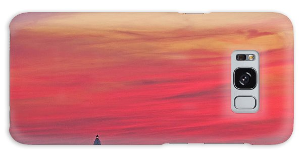 Gorgeous Connectiut Lighhouse Sunset Galaxy Case