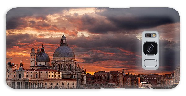 Gorgeous Sunset Over Grand Canal In Venice Galaxy Case