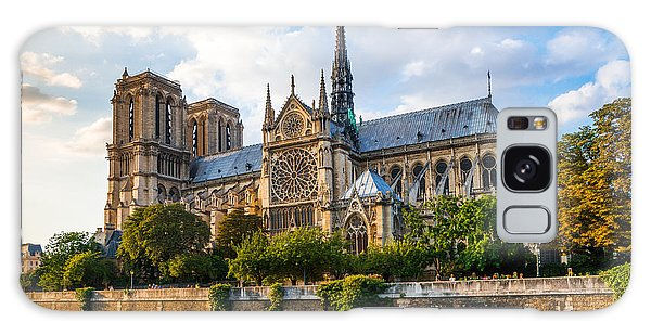 Gorgeous Sunset Over Notre Dame Cathedral Galaxy Case