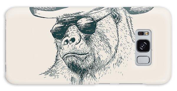 Dress Galaxy Case - Gorilla Like A Texas Ranger Dressed In by Dimonika