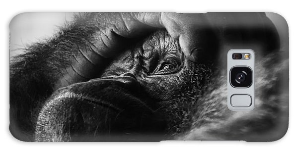 Gorilla Portrait Galaxy Case by Chris Boulton