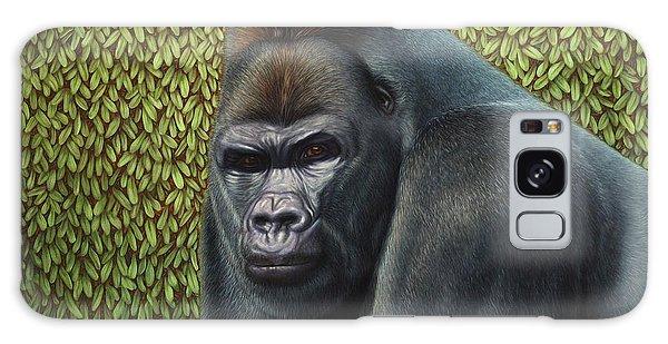 Gorilla Galaxy Case - Gorilla With A Hedge by James W Johnson