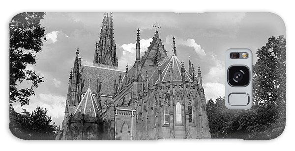 Gothic Church In Black And White Galaxy Case by John Telfer