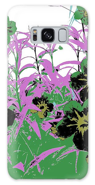 Galaxy Case featuring the photograph Gothic Garden Green by David Clark
