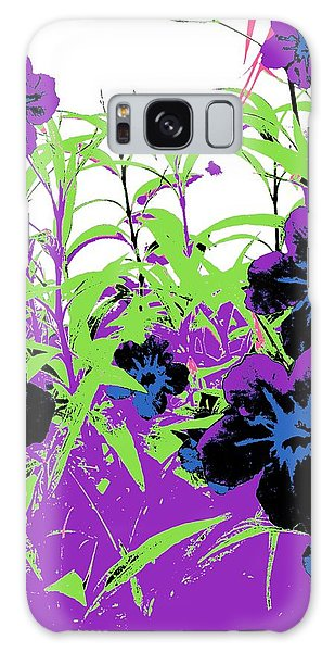 Galaxy Case featuring the digital art Gothic Garden Orchid by David Clark